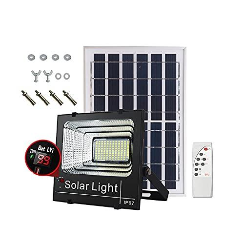 Faro De Panel Solar Para Exteriores 1100W 1336LM Proyector Solar LED Exteriores Desde Anochecer Amanecer, Pared Farola Solar 6500K Impermeable IP67 Con Control Remoto, Cables 12m(Size:1100W 55000MAH)