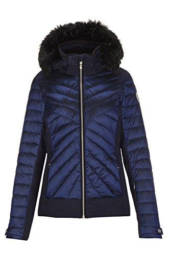 Killtec Damen Khya Skijacke Mit Abzippbarer Kapuze Und Schneefang, Blau, 46