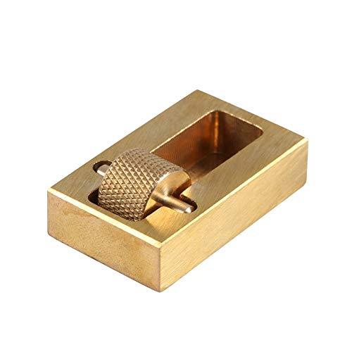 Yosoo Caja de pintura al óleo del rodillo del borde del cuero de la fabricación de artesanía con 2 rodillos de latón herramienta de procesamiento de borde de cuero
