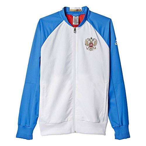 adidas Herren Fuβballjacke RFU ANTH Jacket, Weiß/Blau/Rot, XS