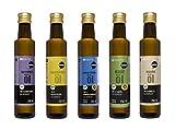 Wohltuer - Wertvolle Bio Öle im Set - Bio Borretschöl + Bio Mandelöl + Bio Nachtkerzenöl + Bio Hanföl + Bio Schwarzkümmelöl (5 x 250ml)