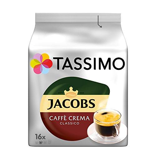 Tassimo Kapseln Jacobs Caffè Crema Classico, 80 Kaffeekapseln, 5er Pack, 5 x 16 Getränke