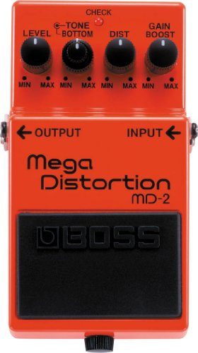 BOSS mD-2 Mega Distortion; Extreme, Low-end Distortion For Modern Metal and Hard Rock