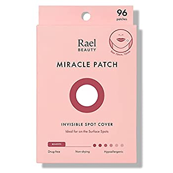 Rael Acne Pimple Healing Patch - Absorbing Cover Invisible Blemish Spot Hydrocolloid Skin Treatment Facial Stickers Two Sizes 10mm & 12mm  96 Count