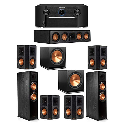 Fantastic Deal! Klipsch 7.2 System with 2 RP-8000F Floorstanding Speakers, 1 Klipsch RP-404C Center ...