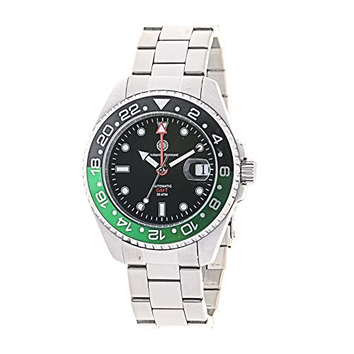 Constantin Durmont Unisex Erwachsene Analog Automatik Uhr mit Edelstahl Armband Cavity Automatic GMT 130309