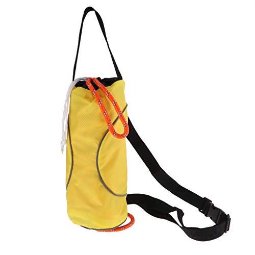 CUTICATE Kajak Wurfsack Rettungswurflinie Schwimmseil Mit Tasche - 16 Meter reflektierende gelbe Seilbeutel