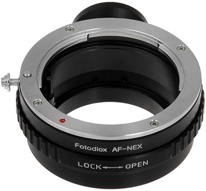 Fotodiox SONY-A-NEX cable para cámara fotográfica adaptador - Adaptador para objetivo fotográfico (Negro Metal Sony Alpha a7 a7r NEX-3 NEX-5 NEX-C3 NEX-5N NEX-7 NEX-F3 NEX-5R NEX-6 NEX-VG10 NEX-VG20)