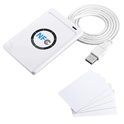 Lector/grabador sin contacto RFID NFC ACR122U, lector de tarjetas IC inteligente ISO...