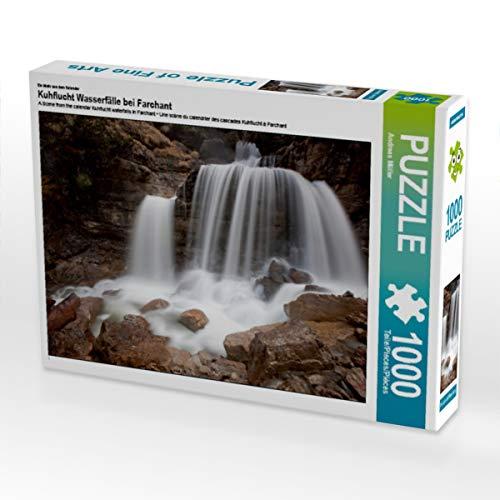 CALVENDO Puzzle Kuhflucht Wasserfälle bei Farchant 1000 Teile Lege-Größe 64 x 48 cm Foto-Puzzle Bild von Andreas Müller Fotografie