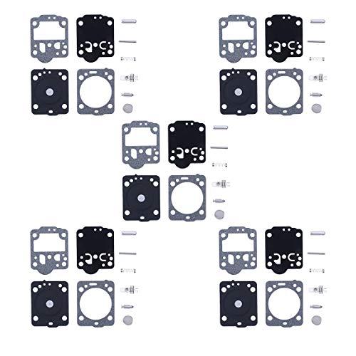 Haishine 5Pcs / Lot Kit de diafragma de carburador para Husqvarna 235 236 240 435 435E CS2234 CS2234 Motosierra Zama RB-149