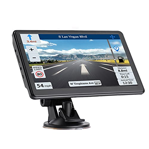 Car GPS Navigation GPS Navigation for Truck & RV & Car, Driver Alerts, Turn-by-Turn Directions, 2021 Map with Free Lifetime UpdateMap Update