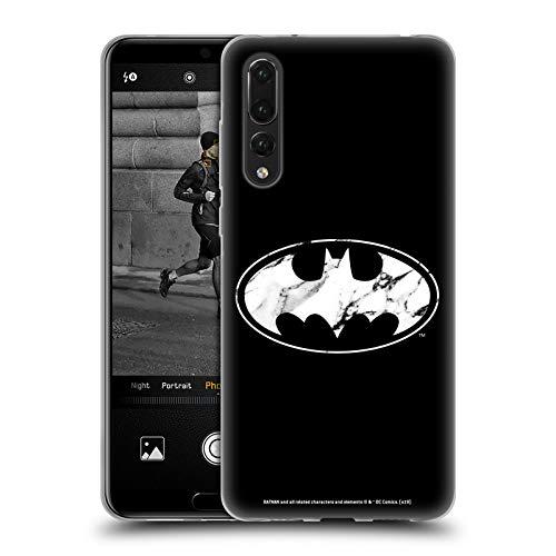 Head Case Designs sous Licence Officielle Batman DC Comics Marbre Logos Coque en Gel Doux Compatible avec Huawei P20 Pro