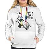 xiangli Chaqueta de Invierno con Capucha para Mujer con Sudadera de Bolsillo Ligera y Casual Joy Division an Ideal for Living L