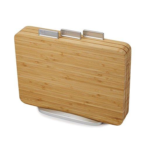 Joseph Joseph Index - 3-teiliges Schneidebrett-Set - bamboo 60141 Holz