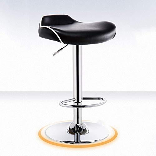 YLCJ Beauty stoel stoel, verstelbare metalen draaibare stoel, kapper, manicure winkel, fauteuil, teller, receptie, kinderstoel, ligstoel (kleur: wit) Zwart