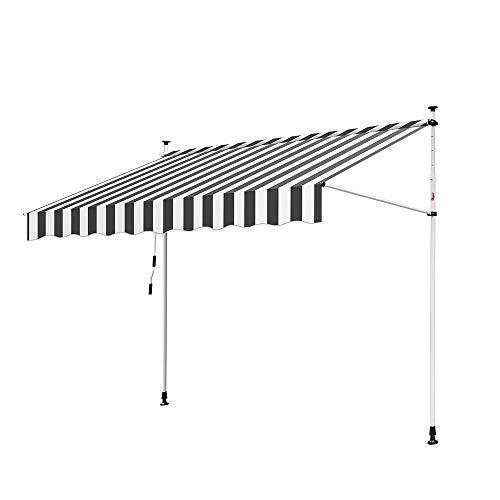 Hengda Toldo articulado con armazón 300 * 120cm Toldo Extensible Enrollable terraza balcón
