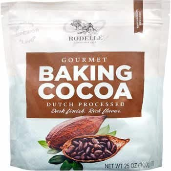 Rodelle Gourmet Baking Cocoa Powder, Dutch Processed, 25 oz in a