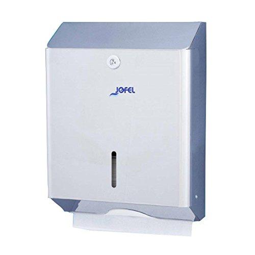 Jofel AH12000 Clásica Dispensador de Toallas de Manos, Zig-Zag, Inox Brillo