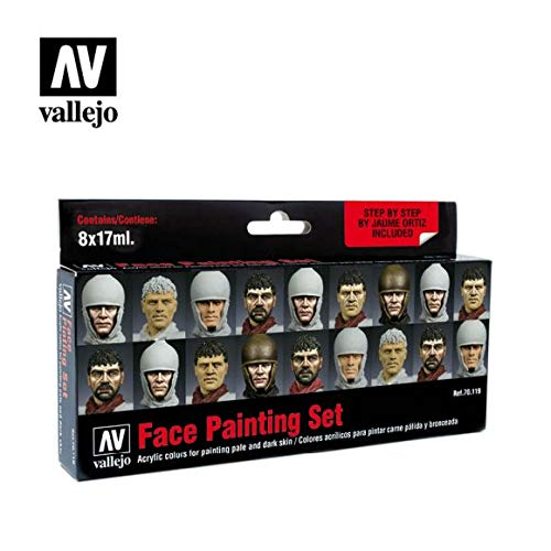 Vallejo Face Painting Set, 17ml (Set of 8)