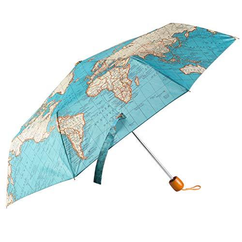 Mr. Wonderful Parapluie pliable Motif carte vintage