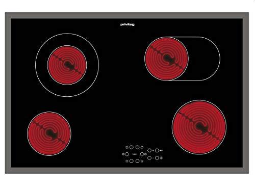 Privileg PCTAC 7042 NE Glaskeramik-Kochfeld / 77 cm/Duo-Kochzone/Touch-Control-Steuerung/Kindersicherung/Timer mit Abschaltautomatik/Restwärmeanzeige