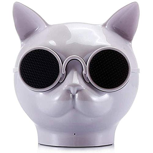 ACEMIC Portable Cat Head Creative Bluetooth Wireless Speaker, Touch Radio HiFi Subwoofer Speaker HD Speaker for Home Office Outdoor,The Best Gift for Friends,Gray