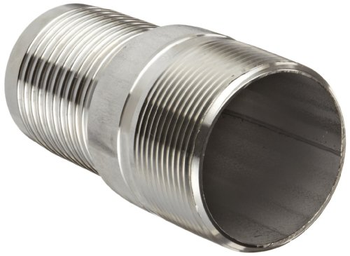 Dixon RST10 Stainless Steel 316 Hose Fitting, King Combination Nipple Threaded End with No Knurl, 1 NPT Male x 1 Hose ID Barbed by Dixon Valve & Coupling