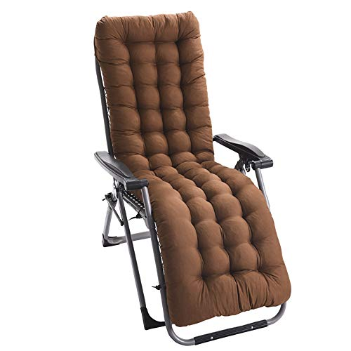 jinding Patio Chair Cushion Recliner Cushion Indoor Outdoor Rocking Chair Cushions with Ties Jumbo Thicken Padded for Chaise(Coffee Small)