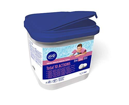 Gre 76038 - Pastillas multiacción para el tratamiento completo de la piscina,...