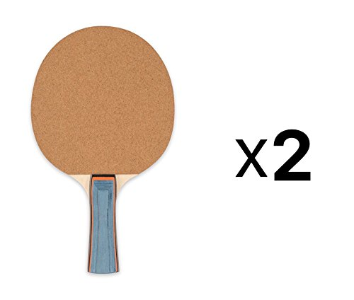 Champion Sports Sandpaper Face 5ply Laminated Table Tennis Ping Pong Paddle red 2Pack One Size
