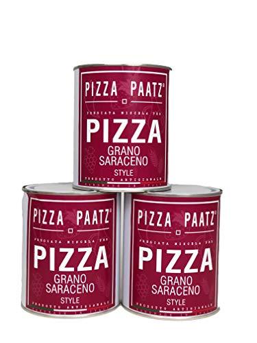 Preparato per Pizza -set da 3- prodotto artigianale Made in Italy, Farina di Grano Saraceno, elevato contenuto di proteine