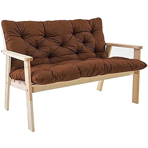 Cojín para Banco de Jardín Asiento Silla Suave Cómodo Impermeable con Respaldo Color Banco para Muebles de Patio 150x100 cm