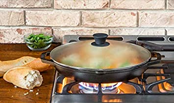 Grill or Campfire Seasoned and Ready for the Stove Frying and Grilling Baking Made from Quality Materials for a Lifetime of Saut/éing Lodge Chef Collection 8 Inch Cast Iron Chef Style Skillet