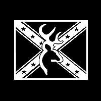 CAOPEIHE ヘッド窓のステッカーフラグビニールデカール鹿15CMx 11.5CM漫画 (Color : White)