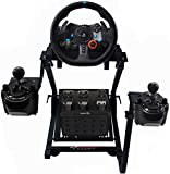 GT Omega Steering Wheel Stand PRO for Logitech G923 G29 G920 Thrustmaster T500 RS Force Feedback Gaming Wheel & TH8A Shifter Mount V1 - Fanatec Clubsport PS4 Xbox PC - Tilt-Adjustable to Ultimate Sim Racing Experience