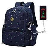 Diaper Bag Backpack, PIN ZHI ZAN Large Baby Bag, Multi-functional Travel BackPack, Waterproof Maternity Nappy Bag Changing Bags with Insulated Pockets Stroller Straps and Built-in USB Charging Port,