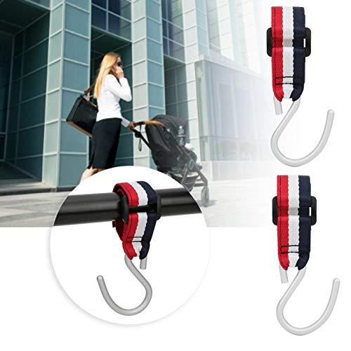 Gancho para cochecito Durable Aplicable Multifuncional para bolsas de pañales Accesorio para cochecito
