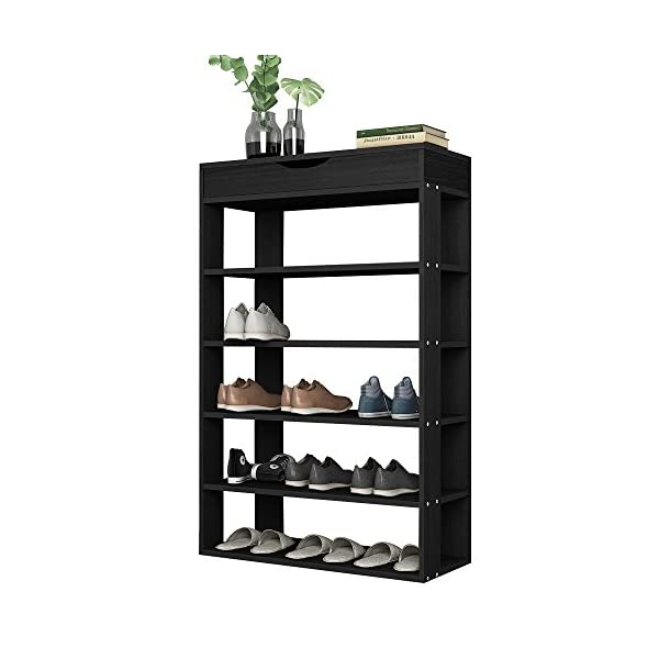 SDHYL 5-Tier Shoe Rack 29.5 inches Shoe Storage Shelf with Top Storage Space, Shoe...