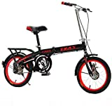 Nologo Bicicleta Los niños Plegable Bicicleta Plegable Bicicletas for Adultos Amortiguador De trayecto de Bicicletas Ligera Student City Kids (Size : 20inch)