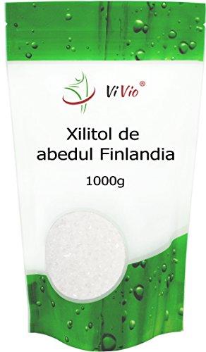 Zucchero di Betulla Vivio (Xilitolo). Confezione da 1 Kg. Basso Contenuto di Calorie. Dolcificante Naturale