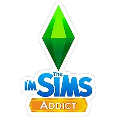 rangerpolocon Stickers Im The Sims Addict 3x4 Inch (3 Pcs/Pack) Vinyl