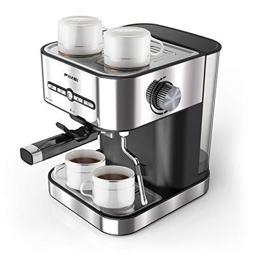 FIMEI Cafetire Expresso, Machines Caf Expresso 15 Bars, Machine Expresso avec Mousseur Lait pour Cappuccino et Latte, avec Fonction de Chauffage, 1500ml Amovible Rservoir D'eau (Cafetire)