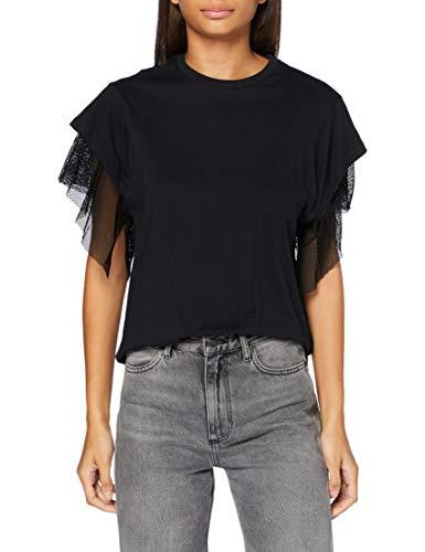 REPLAY W3500a.000.20994 Camiseta, 988 Belleza Negra, XXS par
