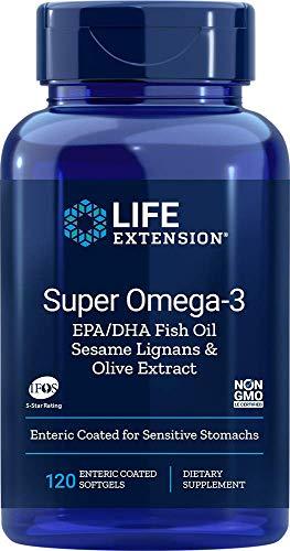 Life Extension Super Omega-3 Epa/Dha con Sésamo Lignanos & Olive Extracto - 120 Cápsulas 280 g
