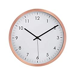 Amazon Basics 12 Traditional Wall Clock - Copper
