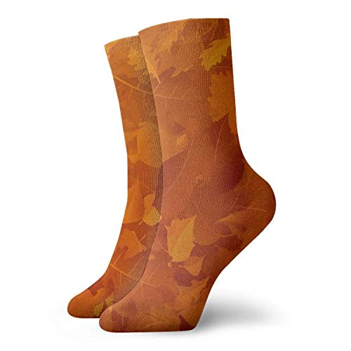 huatongxin Crew Calcetines,Casual Calcetines,Compression Calcetines,Athletic/Sport Calcetín,Stock Autumn Falling Leaves On Printed Moisture Control Running Calcetines Durable Breathable Training Ca