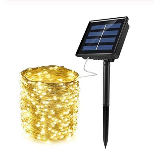 GZSC Solar-ketting, waterdicht, veren, koperdraad, voor patio, party, tuin, verzorging, huwelijk, kerstdecoratie