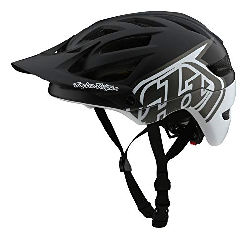 Troy Lee Designs Adult | Trail | All Mountain | Mountain Bike A1 MIPS Classic Helmet (MD/LG, Black/White)