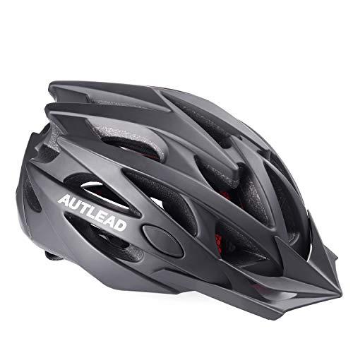 AUTLEAD Casco para Bicicleta, Adultos Casco para Bicicleta con Visera Extraíble, Certificado CE Hombres Mujeres Carretera Casco de Bicicleta(MV29)